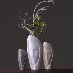贝汉美(BHM) 欧式创意陶瓷花瓶摆件北欧现代简约家居饰品客厅花艺花插七夕