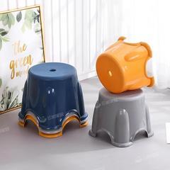 塑料板凳家用儿童凳加厚圆凳防滑踩脚胶凳脚踏宝宝洗澡矮凳