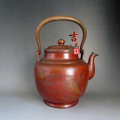 民国 日本纯正手工打造 铜壶 材质好料厚品相佳