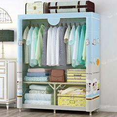 免安装折叠衣柜现代家用卧室布艺柜全钢架出租房用简易宿舍布衣橱