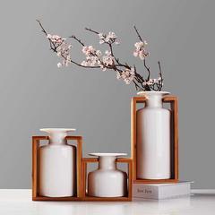 贝汉美BHM 日式陶瓷花瓶摆件禅意新中式花器套装客厅电视柜办公室