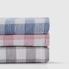 纯棉透气轻薄不起球纱布盖毯150*200cm(颜色随机)