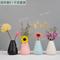 北欧马卡龙陶瓷小花瓶摆件客厅插花干花电视柜装饰品创意简约摆设