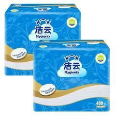 洁云平板纸手纸厕纸草纸家用大包压花皱纹纸卫生纸刀切纸实惠装