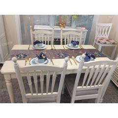 实木白蜡木餐桌椅组合现代简约 自提免运费
