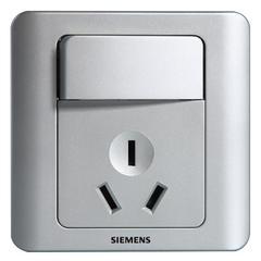西门子(SIEMENS)开关插座 远景系列 16A三孔带开关面板(银色)