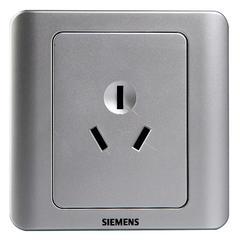 西门子(SIEMENS)开关插座 远景系列 16A三孔插座面板 (银色)