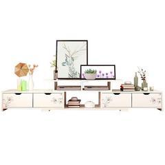 电视柜茶几家具现代简约客厅卧室北欧小户型实木色电视机柜