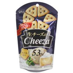 api酱推荐网红Glico cheeza特浓奶酪格力高芝士三角饼干小零食(卡蒙贝尔芝士)