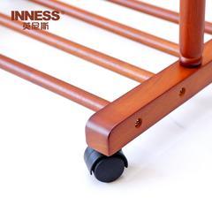 日式组装 英尼斯原装进口实木落地时尚衣帽创意可移动挂衣架TH-22