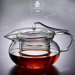 加厚防烫玻璃压把壶 简约功夫茶具耐热花茶泡茶壶 沏茶玻璃水壶