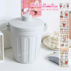 创意可爱桌面垃圾桶家用客厅简约带盖小纸篓迷你翻盖塑料垃圾筒