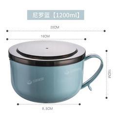 沃德百惠带盖304不锈钢泡面碗学生宿舍汤碗日式可爱饭盒餐具套装
