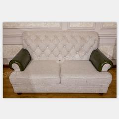 格美板木结合双人沙发