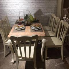大理石轻奢餐桌椅组合现代简约