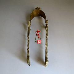 美国古董 冰夹 纯铜打造 质感强 古玩杂项 老物件 二手旧货 秒价
