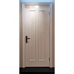 【力天木门】 力天白色混合漆大线条八字口木门 欧式卫浴门  LT-M008