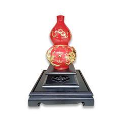 漆线雕(厦门)线龙凤呈祥 陶瓷器工艺品摆件 纯手工制作