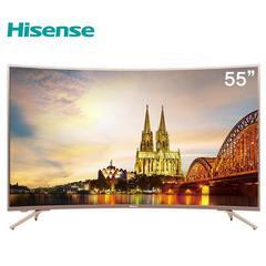 海信(Hisense)HZ55A66 55英寸超高清4K HDR 人工智能液晶曲面电视