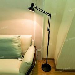 简约创意美式遥控落地灯客厅卧室床头书房学习立式台灯麻将钓鱼灯