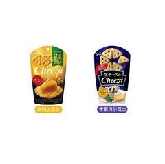 papi酱推荐网红Glico cheeza特浓奶酪格力高芝士三角饼干小零食(卡蒙贝尔芝士)