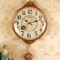 丽盛欧式挂钟现代静音摇摆钟表创意田园家用客厅装饰壁钟卧室时钟