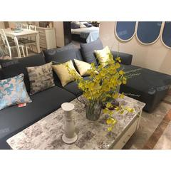 布艺沙发简约现代整装组合转角四人位布沙发小户型客厅家具