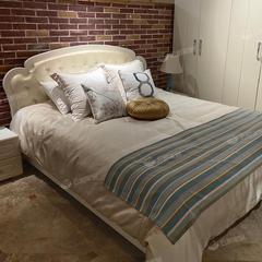 1.8米双人床床头柜高箱皮床储物床现代简约主卧家具(自提免运费)