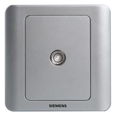 西门子(SIEMENS)开关插座 远景系列 普通电视 宽频电视插座面板 (银色)