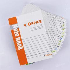 办公记事本子批发A5笔记本日记学生简约文具加厚软面抄手帐本套装