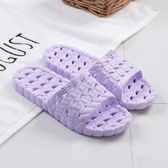 拖鞋女夏家用室内浴室防滑洗澡软底浅紫(积分专享)
