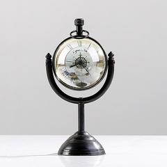 贝汉美(BHM) 美式复古地球仪时钟摆件旋转双面钟 欧式书房办公桌工艺品摆设钟 A款旋转地球仪时钟