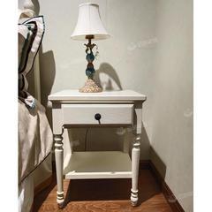 实木床头柜现代简约家用卧室简易床边柜多功能小型收纳柜子储物柜