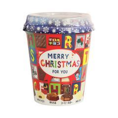 日本进口松尾多彩6味什锦夹心巧克力圣诞杯装可爱圣诞节礼物272g/杯