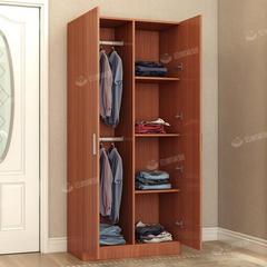 衣柜实木出租房家用卧室收纳柜子储物柜2门板式组装4门经济型衣橱