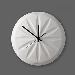 贝汉美(BHM) 中式侧挂钟 陶瓷装饰挂件 客厅钟表 创意卧室餐厅创意时钟 花瓣钟