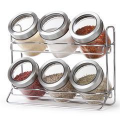 居元素调料盒套装家用密封罐玻璃调料厨房调味罐盐调味瓶斯普瑞特套装
