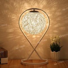 藤球个性创意网红小夜灯文艺小清新艺术客厅装饰调光礼物麻球台灯