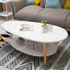 茶几小户型简约现代家用小茶几客厅经济型简易茶台茶桌北欧小桌子(椭圆形)