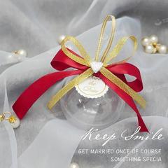 创意婚礼糖盒结婚喜糖盒子创意礼盒透明圆球欧式森系塑料喜糖盒