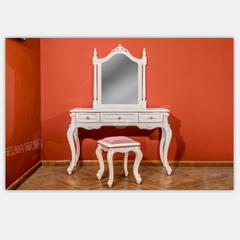 尚多白蜡木梳妆台ST7906,妆镜ST7906,妆椅SD7906