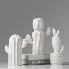 贝汉美陶瓷创意仙人掌摆件北欧风家居装饰品软装酒柜客厅卧室摆件