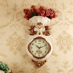 时尚石英钟表欧式挂钟客厅静音家用大气挂表创意个性美式艺术时钟