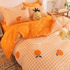 ins网红四件套床上用品床单被套单双人被罩少女心学生宿舍三件套
