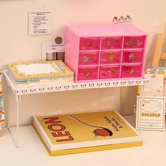 ins透明抽屉式九宫格桌面收纳盒化妆品学生书桌口红置物架少女心