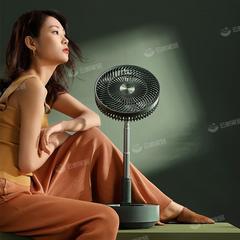 edon爱登悬浮收纳落地扇电风扇家用台式充电空气循环电扇伸缩折叠