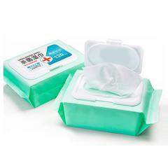 120片消毒湿纸巾酒精棉便携式杀菌大小包随身装抑菌学生儿童专用