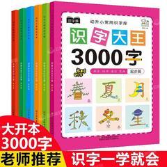 识字书幼儿启蒙儿童识字大王认字卡片拼音字母练习教材婴幼儿书籍