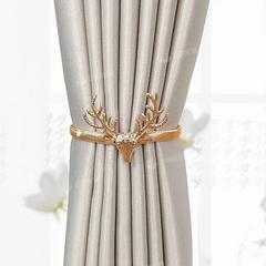 免打孔窗帘扣绑带简约轻奢创意弹簧窗帘夹可爱收拢带束带扎花装饰