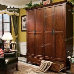 1807*623*2200H12G4简欧家具简美深色四门大衣柜